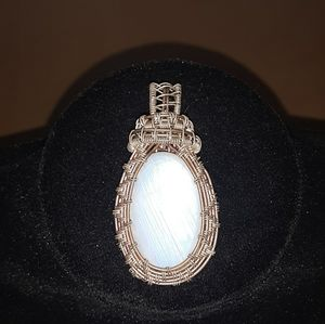 Moonstone wrap Silver and Copper wrap.